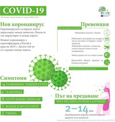 Информация за коронавирус (илюстрация)